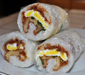 breakfast rice roll